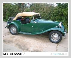1952 MG TD classic car.  My parents had one of these in the early days - pre-kids.