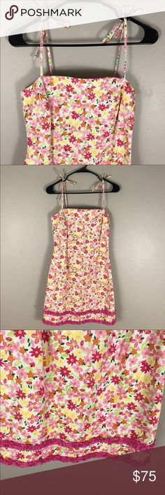 7bfeb23b3d95 Lilly Pulitzer 6 yellow pink floral sheath dress