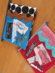 Disse Deux Collage Quilt Patchwork Pouch Bag Purse