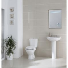 Frontline Xclusive 4 Piece Set 1 Tap Hole. Grab yourself a bargain in the Frontline PRICE CRASH SALE. This Xclusive Toilet & Basin Suite comes complete with Pan, Seat, Cistern, Basin & Pedestal. www.dealsonbathrooms.co.uk