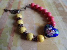 Heart Charm Bracelet. Charm Bracelet. Colorful by NOMADSTRADE