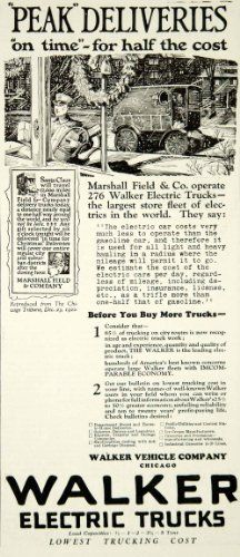 1923 Ad Walker Electric Truck Company Delivery Snow Winter Drive Vehicle Auto - Original Print Ad Check out the image by visiting the link.