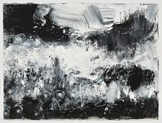 John Virtue Seascapes and Prism textiles Landscape Prints, Urban Landscape, Ink Paintings, Black And White Painting, Perception, Wave, Landscapes, Trees, College