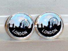 Ohrstecker London Skyline Damen Ohrringe Ohrschmuck Modeschmuck ohne Stein