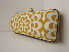 Amy Butler wallflower fabric clutch purse
