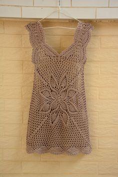 Crochet Skirt Crochet vestido Boho Hippie bohemio gitano hecha a mano ropa Crochet Bodycon Dresses, Crochet Summer Dresses, Black Crochet Dress, Crochet Blouse, Crochet Lace, Crochet Flower, Crochet Skirts, Crochet Tops, Boho Hippie