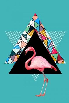 Artist Mark Ashkenazi makes this flamingo look pretty hip in this colorful popart How To Look Pretty, Flamingo, Pop Art, Cute Animals, Artist, Movie Posters, Colorful, Flamingo Bird, Pretty Animals