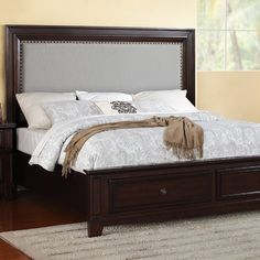 Found it at Wayfair - Harwich Upholstered Storage Platform Bed