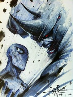 Mattina..Spidey VS.Rino, in Lenny Messina's Francesco Mattina Comic Art Gallery Room