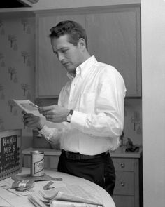 Paul Newman in the kitchen