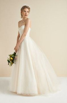A stunning tulle and lace gown