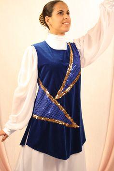 Blue worship dance Ephod Rejoice dance ministries