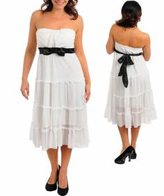 Ivory Off White Strapless Eyelet Gown Dress Black Belted 1x 2X 3X New Plus Lined | eBay