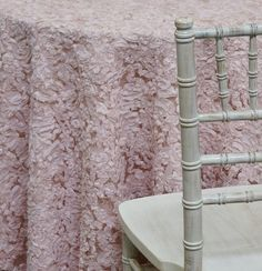Patina Sheer Tablecloth in Blush  Ideal for by UrquidLinen on Etsy