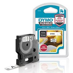 From 11.51:Dymo D1 Durable Labeling Tape For Labelmanager Label Makers Black Print On White Tape 12 Mm W X 55 M L (1978364)