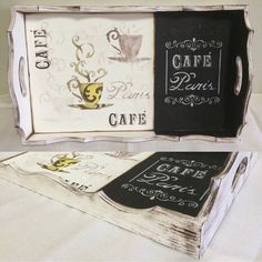 Painted Trays, Painted Boards, Stencil Art, Stencils, Diy Painting, Painting On Wood, Wood Crafts, Diy And Crafts, Deco Paint