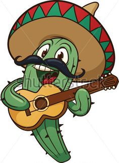 Cute Cartoon Mariachi Cactus Vector Illustration With Simple All IN A Single stock vector - Clipart. Mexican Birthday, Mexican Party, Mexican Paintings, Abstract Paintings, Inkscape Tutorials, Cactus Vector, Mexican Crafts, Desenho Tattoo, Cute Cartoon Wallpapers