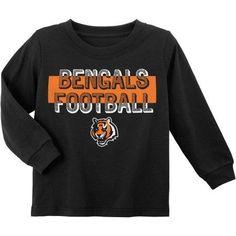 NFL Cincinnati Bengal Toddler Long Sleeve Tee, Toddler Boy's, Size: 12M, Black