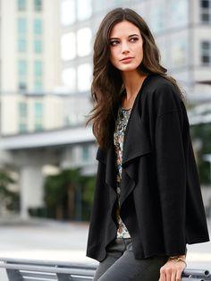 a27137c4eec07 Peter Hahn - La veste en pure laine vierge - noir