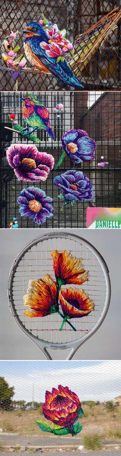 Danielle Clough cria lúdicos bordados coloridos sobre as mais variadas superfícies stylo urbano-3