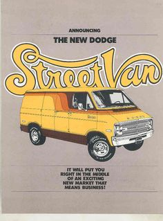 1976 Dodge Street Van Salesman's Announcement Brochure