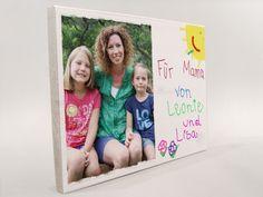 Wanddeko - Dein Foto mit eigener Handschrift, Grußbotschaft - ein Designerstück von Manufaktur-Kister bei DaWanda