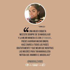 La hermosa @marialexrds recibió su Box Tumaqui y compartió su opinión con nosotros. - Una mujer coqueta necesita siempre de su maquillaje! la mejor manera es con @tumaqui Puedes ahorrar muchísimo dinero hace envíos a todos los países gratuitamente y q mejor que nosotras las mujeres para tan maravillosa noticia que amamos el maquillaje y a un precio súper accesible así que únete YA a @tumaqui no esperes más. - #tumaqui #makeup #maquillaje #tips #belleza #contorno #makeuplover…