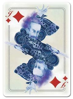 Feudalistic Poker Decks : blue blood playing cards
