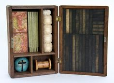 La Wilson, Holy Wisdom, 2010, mixed media, measurements with box open 13.5 x 19 x 3.25 inches