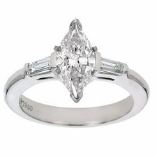 Ziamond Cubic Zirconia Marquise Baguette Solitaire Engagement Ring. The Marquise  Baguette Solitaires are available in