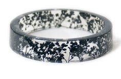 Bracelet - Bijoux avec véritables fleurs - séché Bracelet de fleurs - noir - noir séché bijoux Bracelet résine fleurs - noir