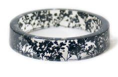 Bracelet  Jewelry with Real Flowers Dried by ModernFlowerChild
