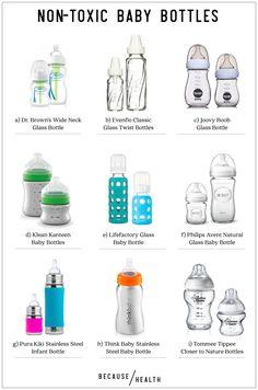 9 Glass and Stainless Steel baby bottles - Kindermode Best Baby Bottles, Glass Baby Bottles, Bpa Free Bottles, Pura Kiki, Bottles For Breastfed Babies, My Bebe, Eco Baby, Pregnancy Info, Baby Pregnancy