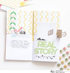 Here is another spread from my traveler's notebook. I have made my own traveler's notebook inserts and I use one of these notebooks for memo...