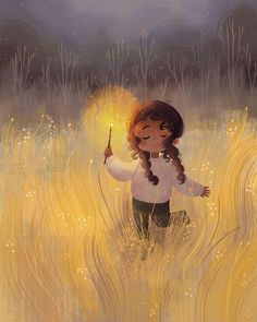 You light up my life art pictures, children's book illustration, landscape Art And Illustration, Illustration Children, Animal Illustrations, Illustrations Posters, Mode Poster, Cute Cartoon Wallpapers, Anime Art Girl, Cartoon Art, Cute Drawings