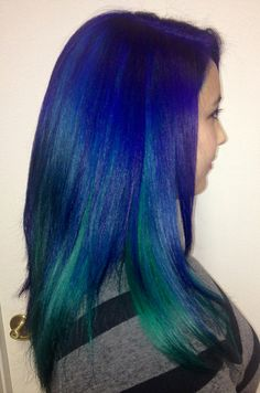 """Jackie's new jewel toned hair - the """"after"""" picture 