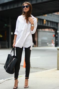 Outfit-With-Classic-White-Shirt-Classic-Pieces-That-Will-Always-Keep-You-in-The-Spotlight