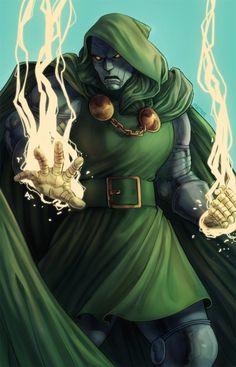 Doctor Doom by Alice Hamel Superhero Villains, Marvel Villains, Marvel Comic Universe, Marvel Comics Art, Marvel Comic Character, Marvel Characters, Dr Doom Marvel, Marvel Vs, Stan Lee