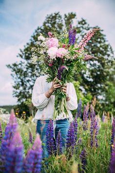Midsommar flowers. Gorgeous colours.