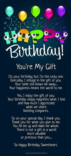 birthday quotes for daughter & birthday quotes ; birthday quotes for best friend ; birthday quotes for him ; birthday quotes for me ; birthday quotes for daughter ; birthday quotes for husband Happy Birthday Love Poems, Romantic Birthday Wishes, Birthday Wishes Quotes, Happy Birthday Messages, Birthday Images, Birthday Quotes For Her, Happy Bday My Love, Happy Birthday Daughter Quotes, Birthday Surprises