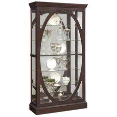 Curio Cabinet in Sable Finish   Nebraska Furniture Mart