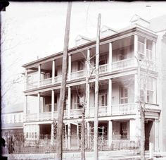 Charleston - Residence - Mayor William Ashmead Courtenay House, 95 Ashley Ave. Corner of Ashley and Montagu Sts. :: George LaGrange Cook Photograph Collection