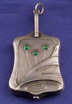 Art Nouveau Silver Slide Locket C1900