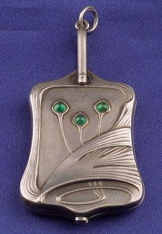 Art Nouveau Silver Slide Locket C1900