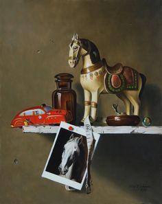 Stefaan Eyckmans | OIL | White horse tribute to Géricault