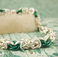 Byzantine Rose Bracelet Kit - Another Easy Chainmaille Weave. $30.00, via Etsy.