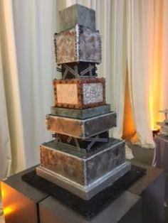 industrial design with mixed metals and medium Industrial Wedding, Industrial Design, 2017 Design, Atlanta Wedding, Mixed Metals, Cakes, Medium, Home Decor, Decoration Home