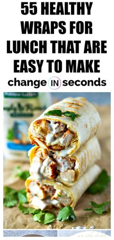 Healthy Wraps For Lunch That Are Easy To Make These quick lunch ideas are perfect for healthy eating recipes healthyrecipes healthymeals dinnerideas healthylunchideas cookingrecipes wrapsandwiches healthydinnerrecipes # Healthy Meal Prep, Healthy Drinks, Healthy Snacks, Nutrition Drinks, Delicious Healthy Food, Healthy Cooking, Healthy Foods To Make, Kid Snacks, Nutrition Guide