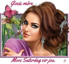 Goeie More, 3d Girl, Beautiful Women, Crown, Afrikaans, Lady, Faith, Messages, Jewelry