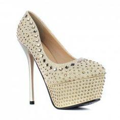 $17.01 Club Trendy Women's Pumps With Rhinestone and Stiletto Heel Design